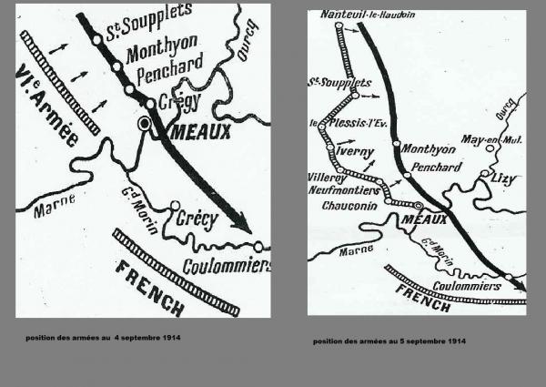 BATAILLE DE L'OURCQ : JOURNEES DU 4 AU 6 SEPTEMBRE 1914