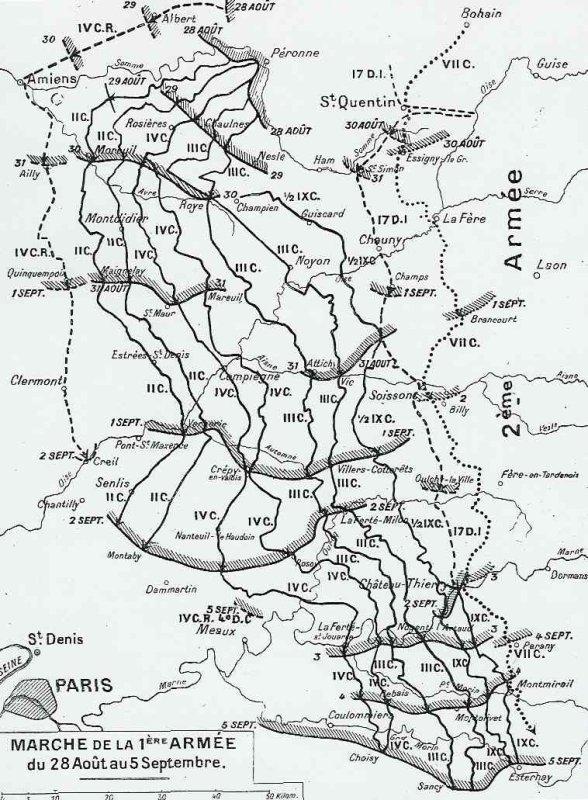 BATAILLE DE L'OURCQ : JOURNEES DU  8 ET 9 ET 10 SEPTEMBRE 1914