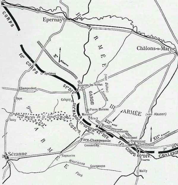 BATAILLE  DES  MARAIS  ST  GOND  :  JOURNEE  DU  10  SEPTEMBRE  1914 :