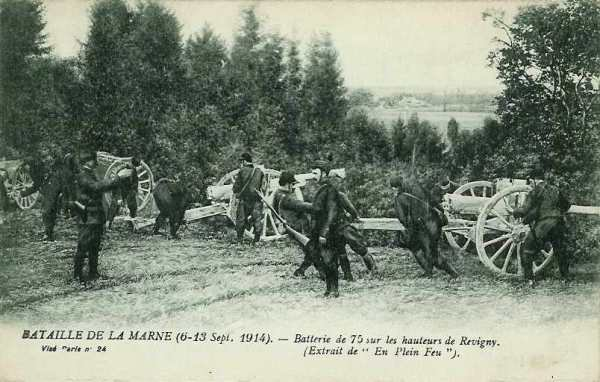 BATAILLE DE LA TROUE DE REVIGNY : JOURNEES DU 11 AU 14 SEPTEMBRE 1914
