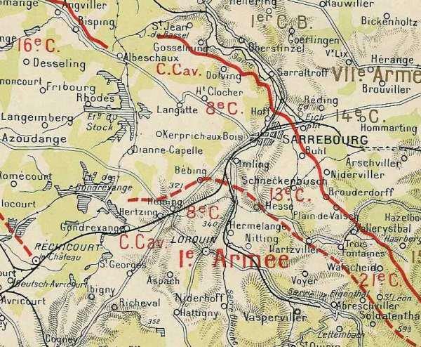 BATAILLE DE SARREBOURG : JOURNEES DU 18 AU 23 AOUT 1914