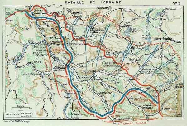 BATAILLE DE LA TROUEE DES CHARMES : 22 AU 26 AOUT 1914