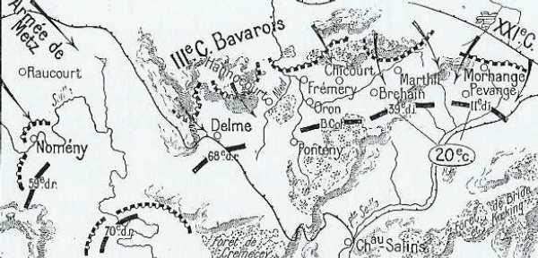 BATAILLE DE LORRAINE : 20 AU 22 AOUT 1914