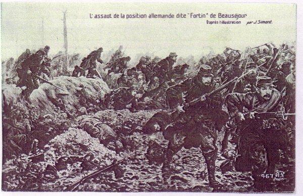 PREMIERE  BATAILLE  DE  CHAMPAGNE  : BEAUSEJOUR