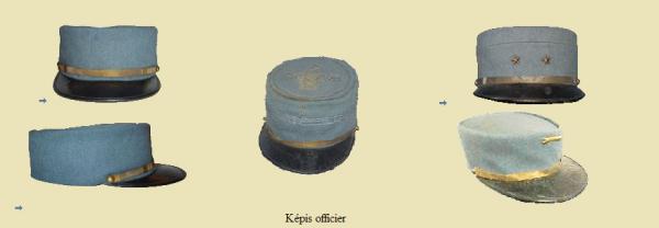 EVOLUTION DE L'UNIFORME FRANCAIS DURANT LA GUERRE 1914-1918 : KEPIS