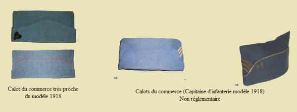 EVOLUTION DE L'UNIFORME FRANCAIS DURANT LA GURRE 1914-1918 : LES BONETS DE POLICE: