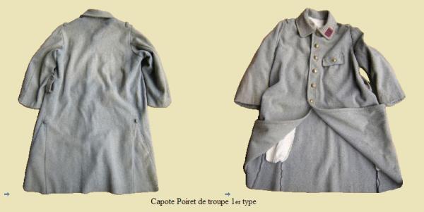 EVOLUTION DE L'UNIFORME FRANCAIS DURANT LA GUERRE 1914-1918 : LA CAPOTE