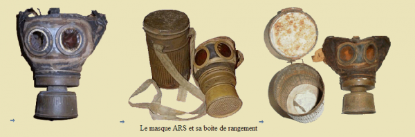 EVOLUTION DE L'UNIFORME FRANCAIS DURANT LA GUERRE 1914-1918 : LES MASQUES A GAZ SUITE :