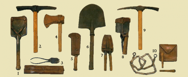 EVOLUTION DE L'UNIFORME FRANCAIS DURANT LA GUERRE 1914-1918 : L'EQUIPEMENT :