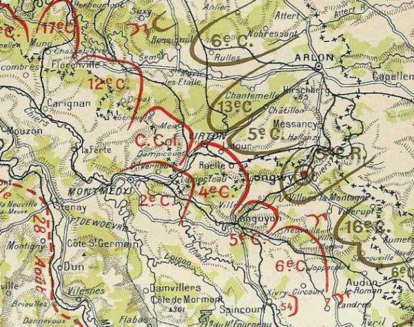 BATAILLE DE LONGWY : 22-23 AOUT 1914 :