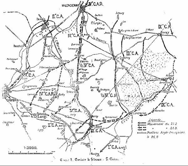 BATAILLE DU CATEAU : 26 AOUT 1914
