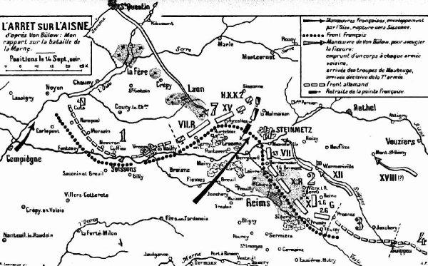PREMIERE BATAILLE DE L'AISNE :  13 AU 28 SEPTEMBRE 1914