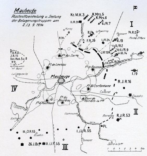 SIEGE DE MAUBEUGE : 25 AOUT AU 7 SEPTEMBRE 1914 :