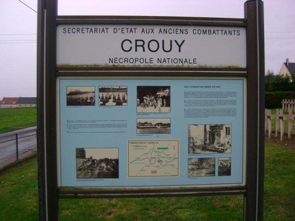 NECROPOLE NATIONALE DE CROUY : CONFLITS 1914 1918 ET 1939 1945