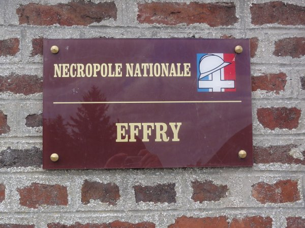 NECROPOLE NATIONALE D ' EFFRY : CONFLIT 1914 1918
