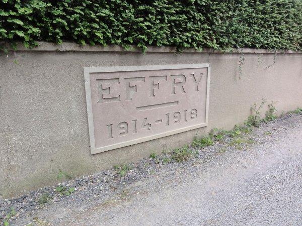 NECROPOLE NATIONALE D ' EFFRY : CONFLIT 1914 1918
