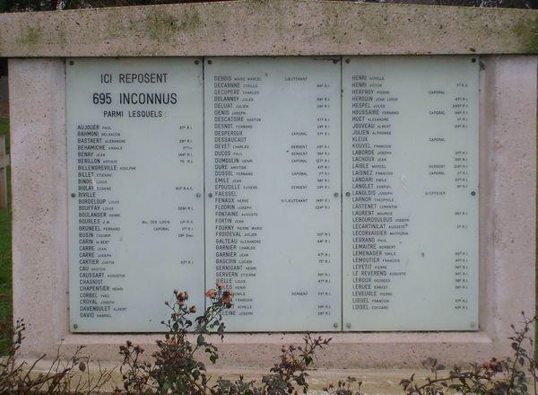 NECROPOLE NATIOALE DE GUISE : CONFLITS 1914 1918 ET 1939 1945