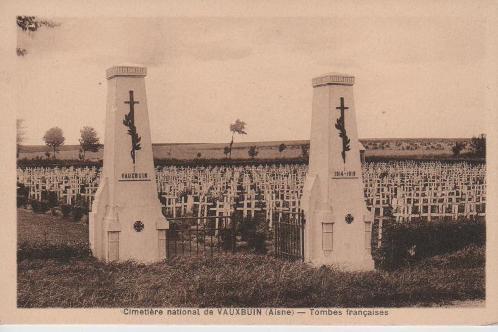 NECROPOLE NATIONALE DE VAUXBUIN : CONFLITS 1914 1918 ET 1939 1945