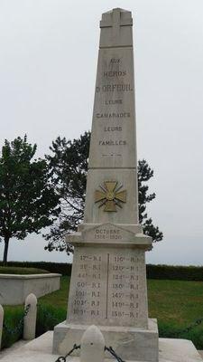 NECROPOLE NATIONALE DE SEMIDE A ORFEUIL : CONFLIT 1914 1918