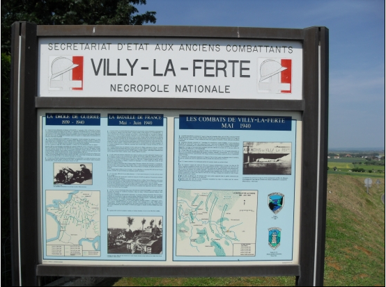 NECROPOLE NATIONALE DE VILLY LA FERTE : CONFLIT 1939 1945