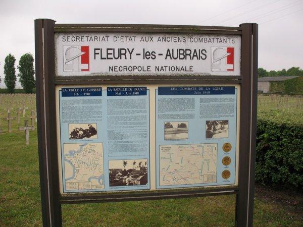 NECROPOLE NATIONALE DE FLEURY-LES-AUBRAIS : CONFLITS 1914 1918 et 19391945