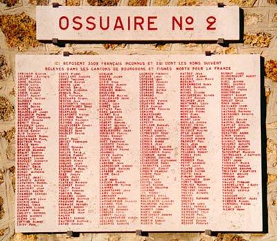 NECROPOLE NATIONALE DE CORMICY : CONFLIT 1914 1918