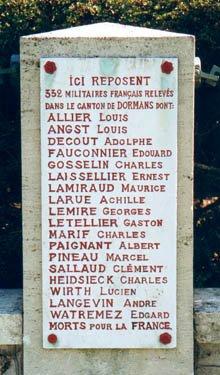 NECROPOLE NATIONALE DE DORMANS : CONFLIT 1914 1918