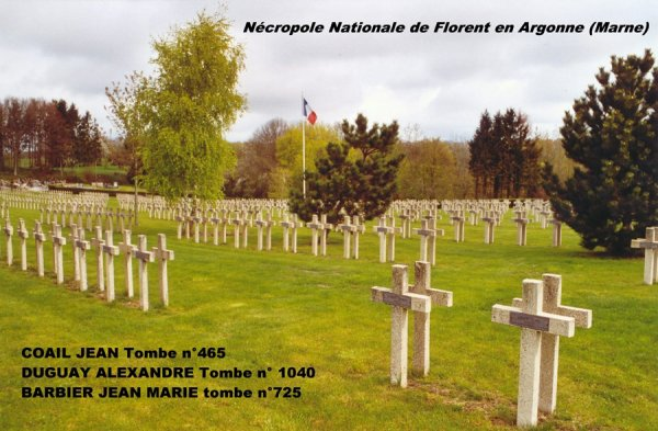 NECROPOLE NATIONALE DE FLORENT EN ARGONNE : CONFLIT 1914 1918