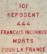NECROPOLE NATIONALE DE MAURUPT- LE- MONTOIS : CONFLIT 1914 1918