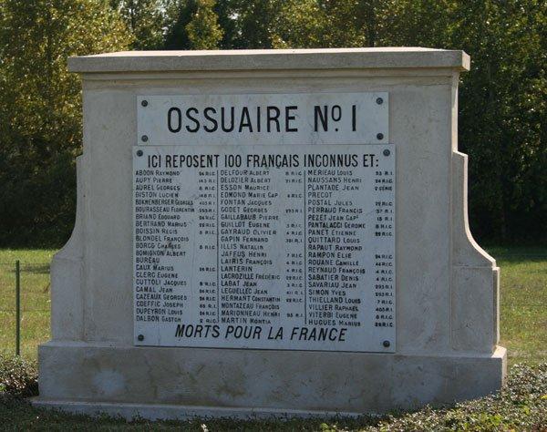 NECROPOLE NATIONALE DE MINAUCOURT-LE-MESNIL-LES HURLUS : CONFLIT 1914 1918