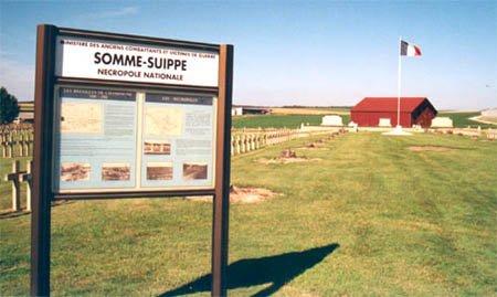 NECROPOLE NATIONALE DE SOMME- SUIPPE : CONFLIT 1914 191/8