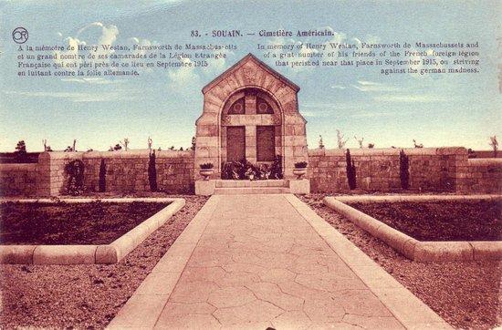 NECROPOLE NATIONALE DE SOUAIN -PERTHES-LES-HURLUS CIMETIERE DE LA LEGION ETRANGERE : CONFLIT 1914 1918