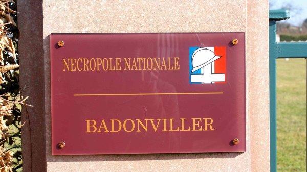 NECROPLE NATIONALE DE BADONVILLER : CONFLITS 1914 1918 ET 1939 1945