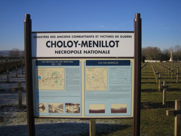 NECROPOLE NATIONALE DE CHOLOY - MENILLOT : CONFLIT 1914 1918