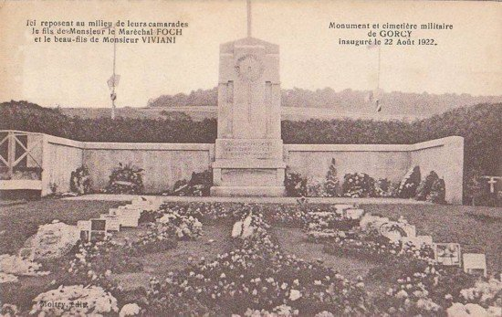 NECROPOLE NATIONALE DE GORCY : CONFLIT 1914 1918