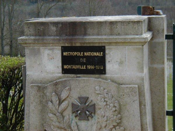 """NECROPOLE NATIONALE DE MONTAUVILLE """"LE PETANT"""" : CONFLITS 1914 1918 ET 1939 1945"""