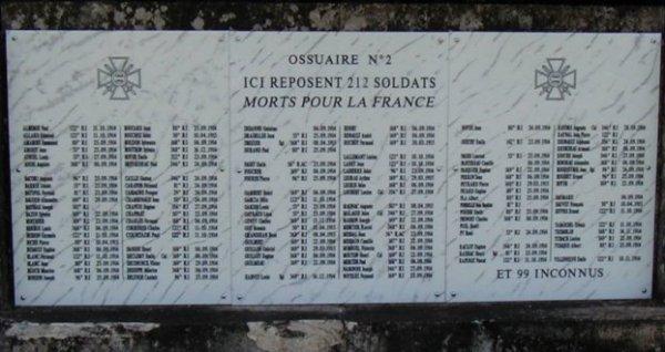 NECROPOLE NATIONALE DE NOVIANT-AU-PRES : CONFLIT 1914 1918