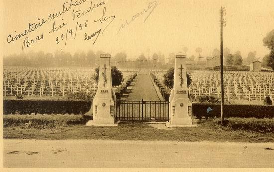 NECROPOLE NATIONALE DE BRAS- SUR - MEUSE : CONFLITS 1914 1918 ET 1939 1945