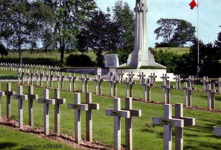 NECROPOLE NATIONALE DE L'ESPERANCE A CUTTING : CONFLIT 1914 1918
