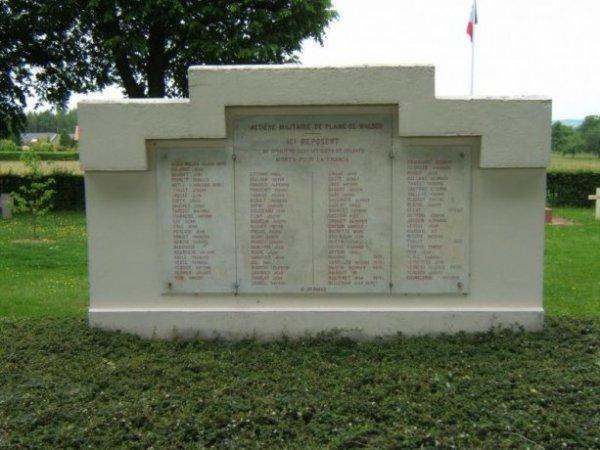 NECROPOLE NATIONALE DE LA PLAINE DE WALSCH : CONFLIT 1914 1918