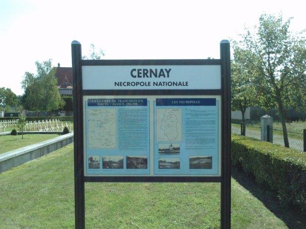 NECROPOLE NATIONALE DE CERNEY : CONFLITS 1914 1918 ET 1939 1945