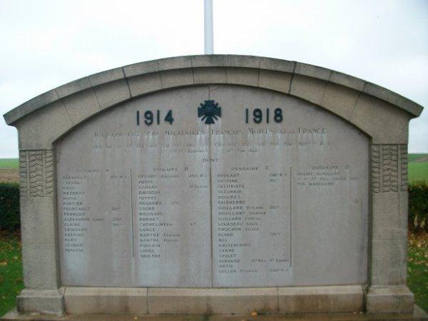NECROPOLE NATIONALE DE CHAMBRY : CONFLIT 1914 1918