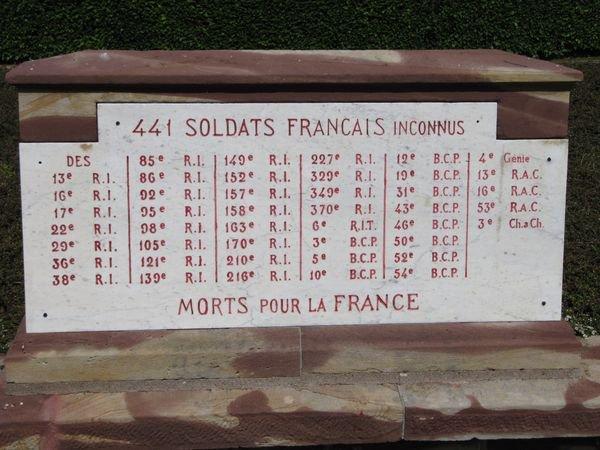NECROPOLE NATIONALE DE RAMBERVILLERS : CONFLIT 1914 1918