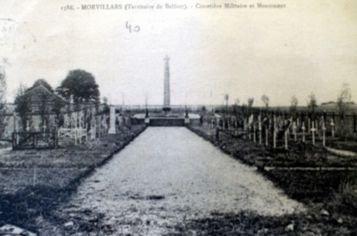 NECROPOLE NATIONALE DE MORVILLARS : CONFLIT 1914 1918