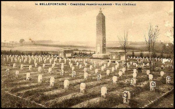 CIMETIERE MILITAIRE DU RADAN A BELLEFONTAINE PROVINCE DU LUXEMBOURG : CONFLIT 1914 1918
