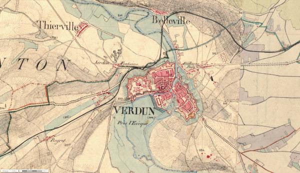 PLACE  FORTIFIEE   DE  VERDUN :