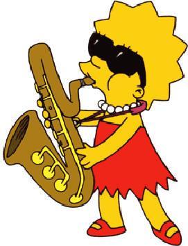 Lisa simpson fille de homer et marge simpson soeur de bart et maggie simpson les simpsons - Marge simpson et bart ...