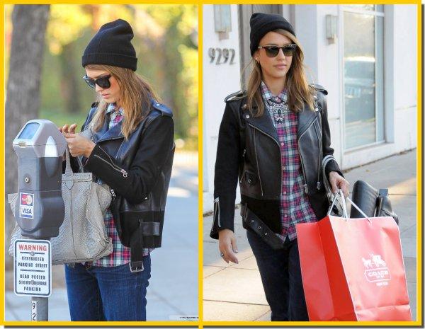 Jess et la nounou font le shopping de noël, le 12 décembre