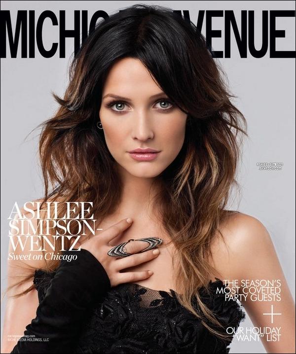 . Une nouvelle photo d'Ashlee pour Michigan Avenue Magazine est apparue ce mois-ci . .