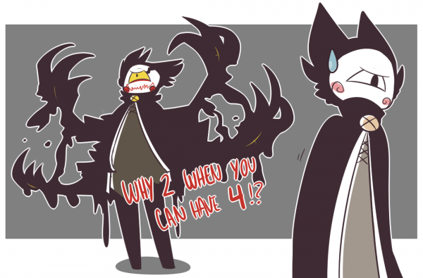"""- """"edgy twin brother"""" -"""